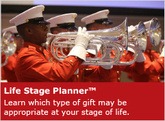 Photo of a Navy band. Link to Life Stage Gift Planner.
