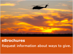 Photo of a helicopter. Link to eBrochures.